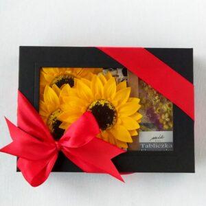 kwiaty mydlane+tabliczka florencka czarny duet