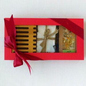 box czerwony zielona herbata i bergamotka